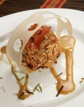 Crocanti de Atún Claro en Aceite de Oliva a la Salsa de Coco al Curry