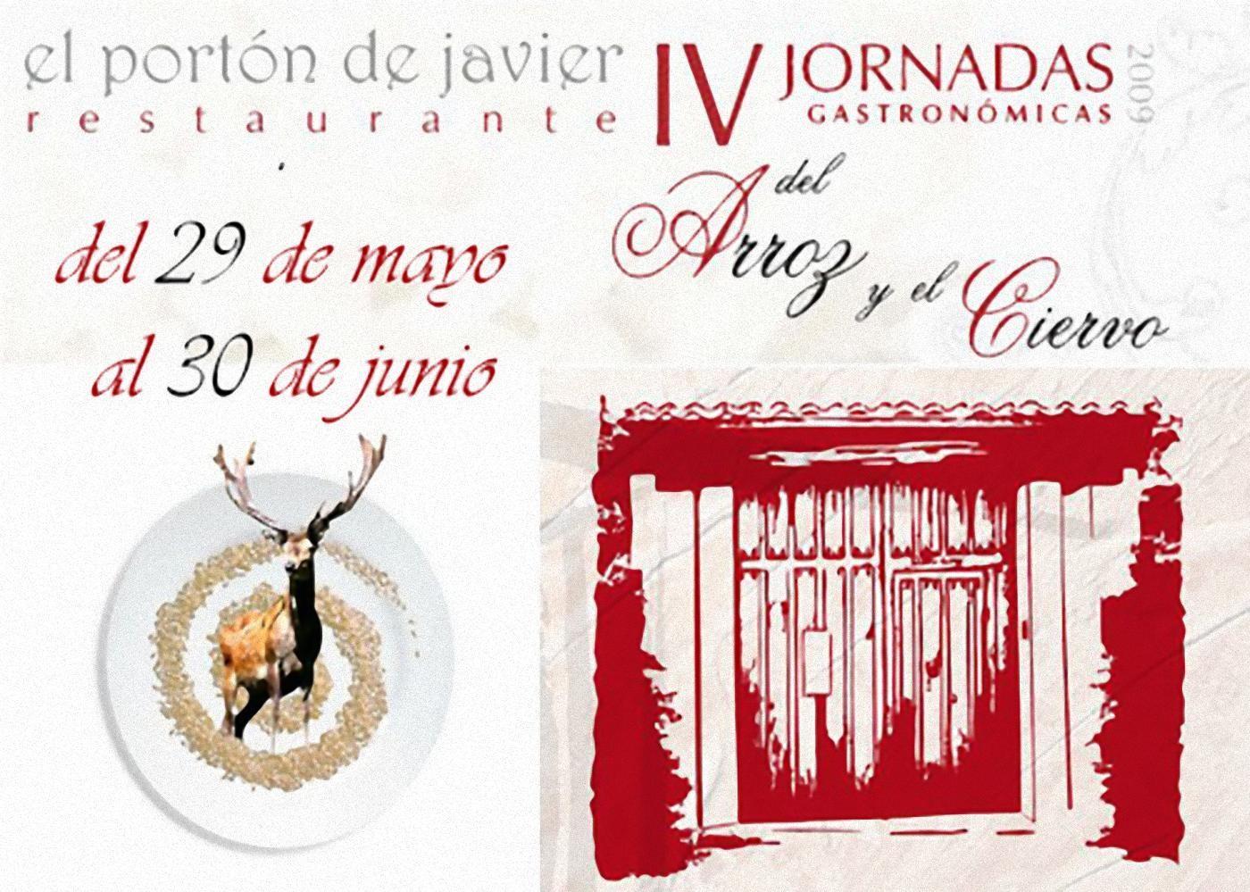Cartel de las IV Jornadas Gastronómicas del Arroz y el Ciervo