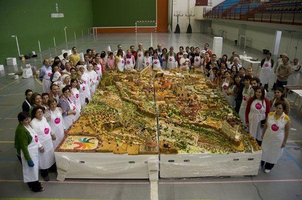 maqueta comestible de Segovia