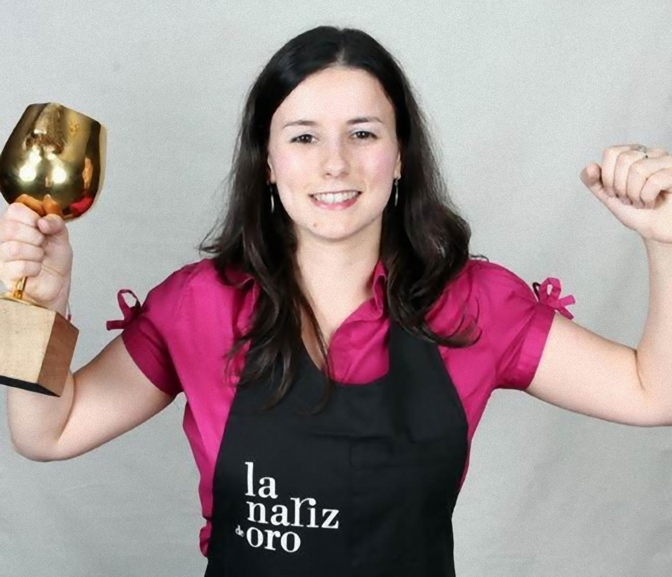 María José Vázquez nariz de oro 2009 con su premio