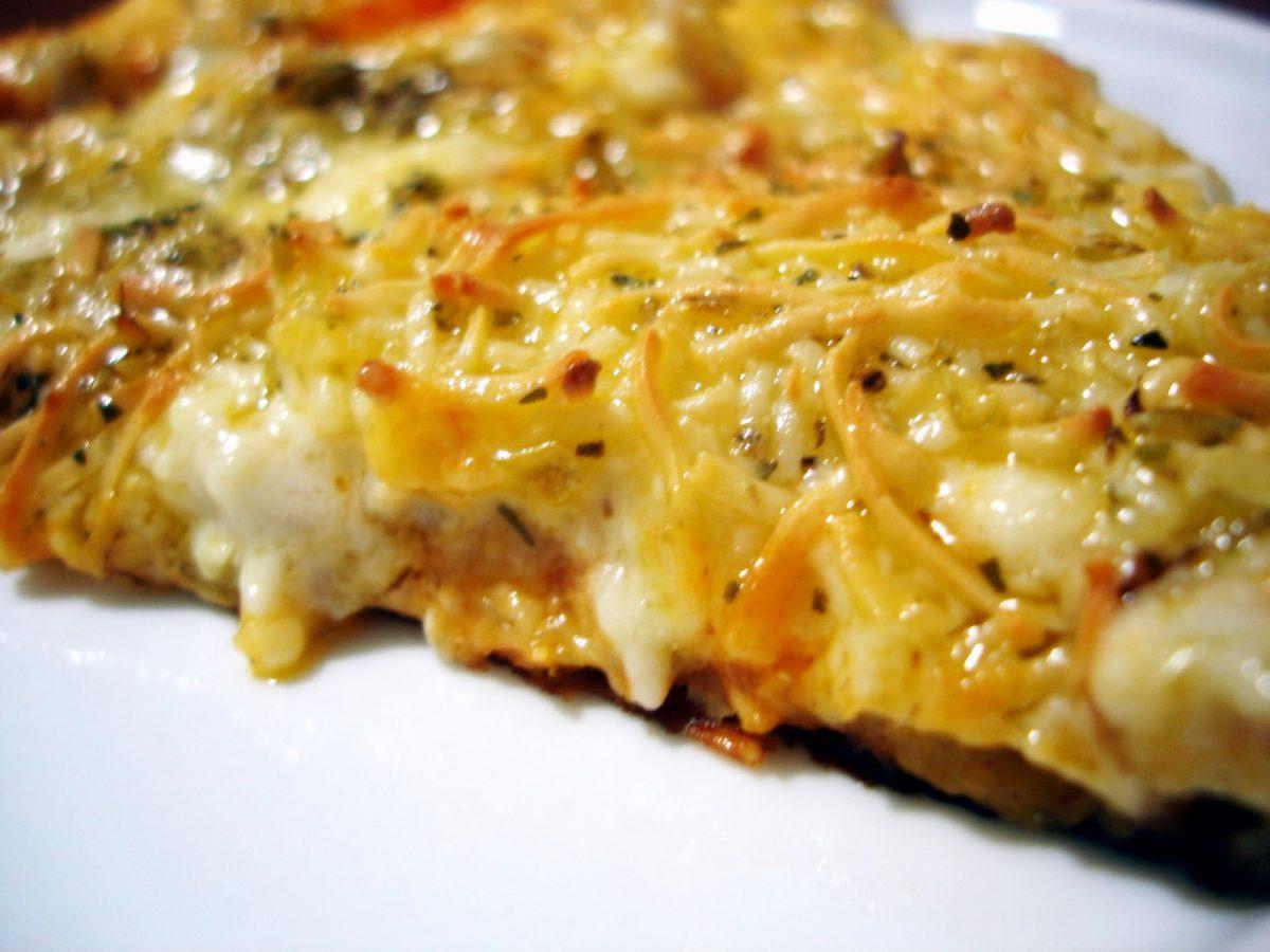 Pizza de calabacin y bacon