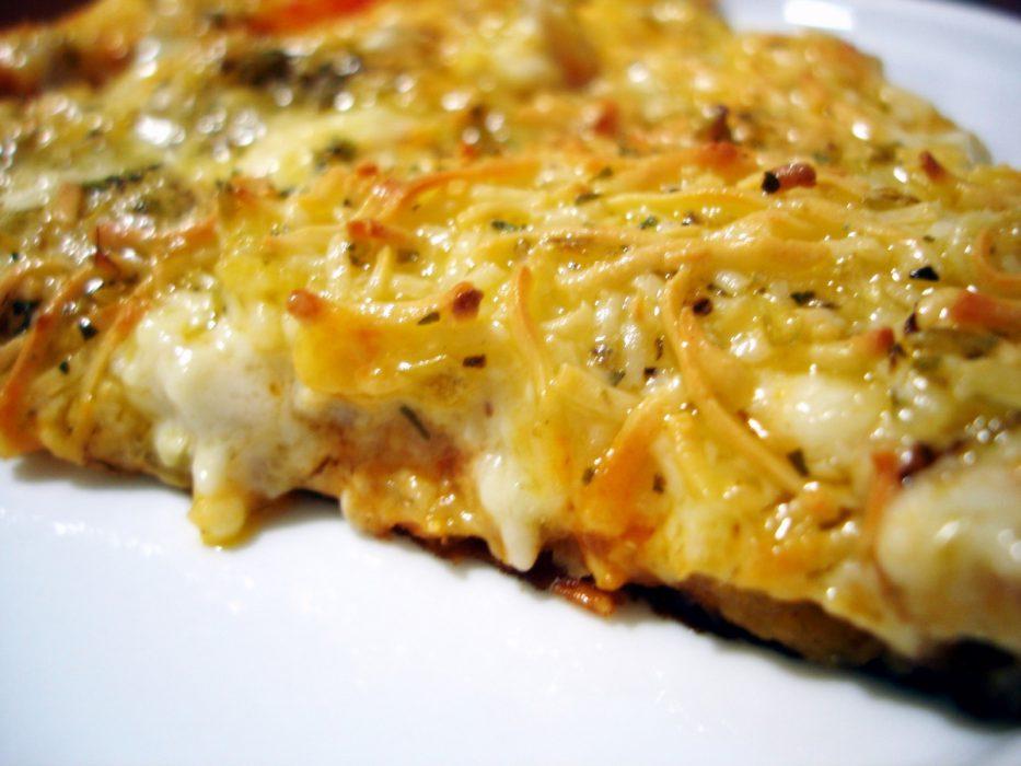 Pizza de Calabacines y Beicon