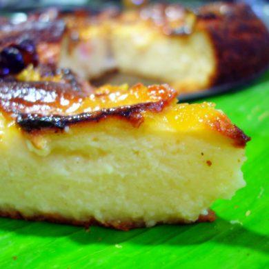 Receta de Tarta de manzana y melocotones