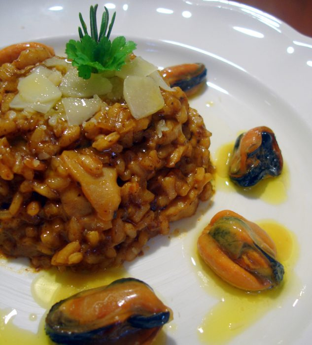 Receta de Risotto de calamares y mejillones