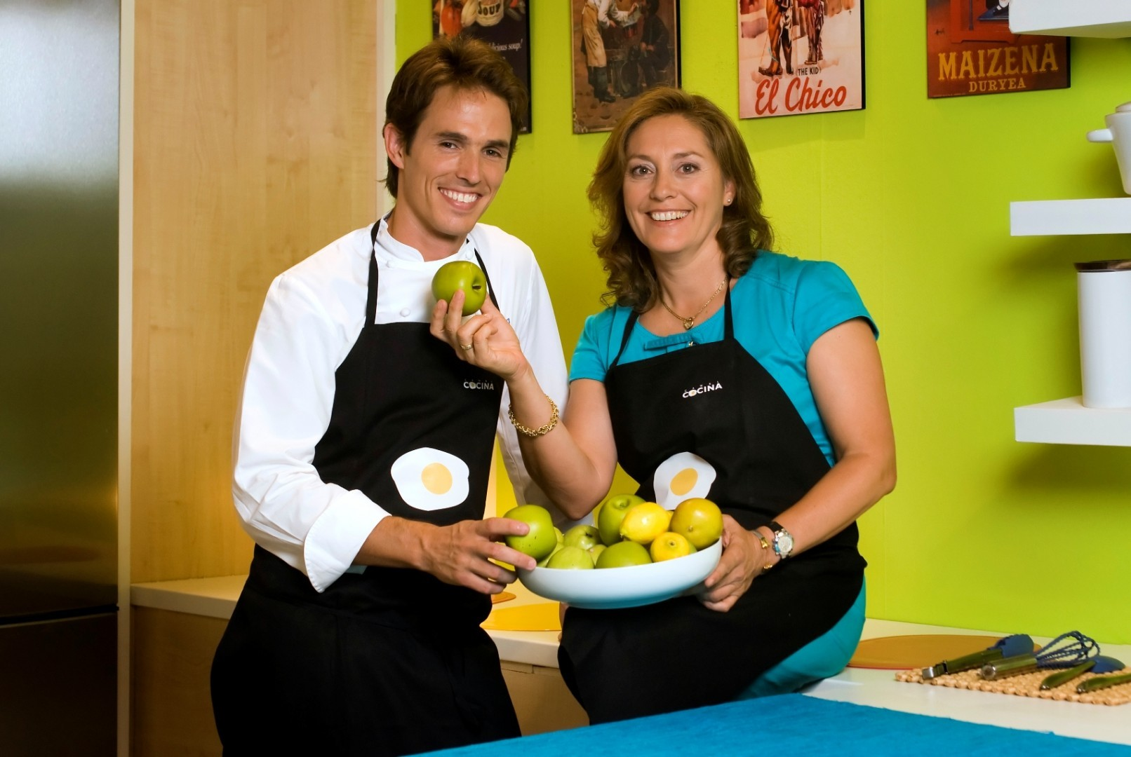 Pilar Riobó y Nino Redruello en Canal Cocina