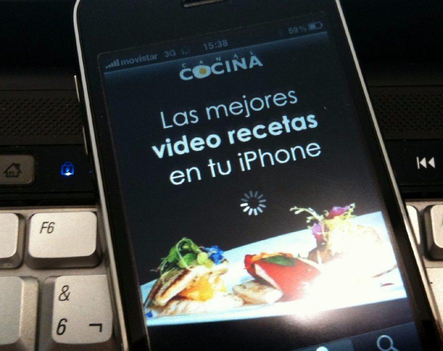 Canal Cocina en el iPhone 2