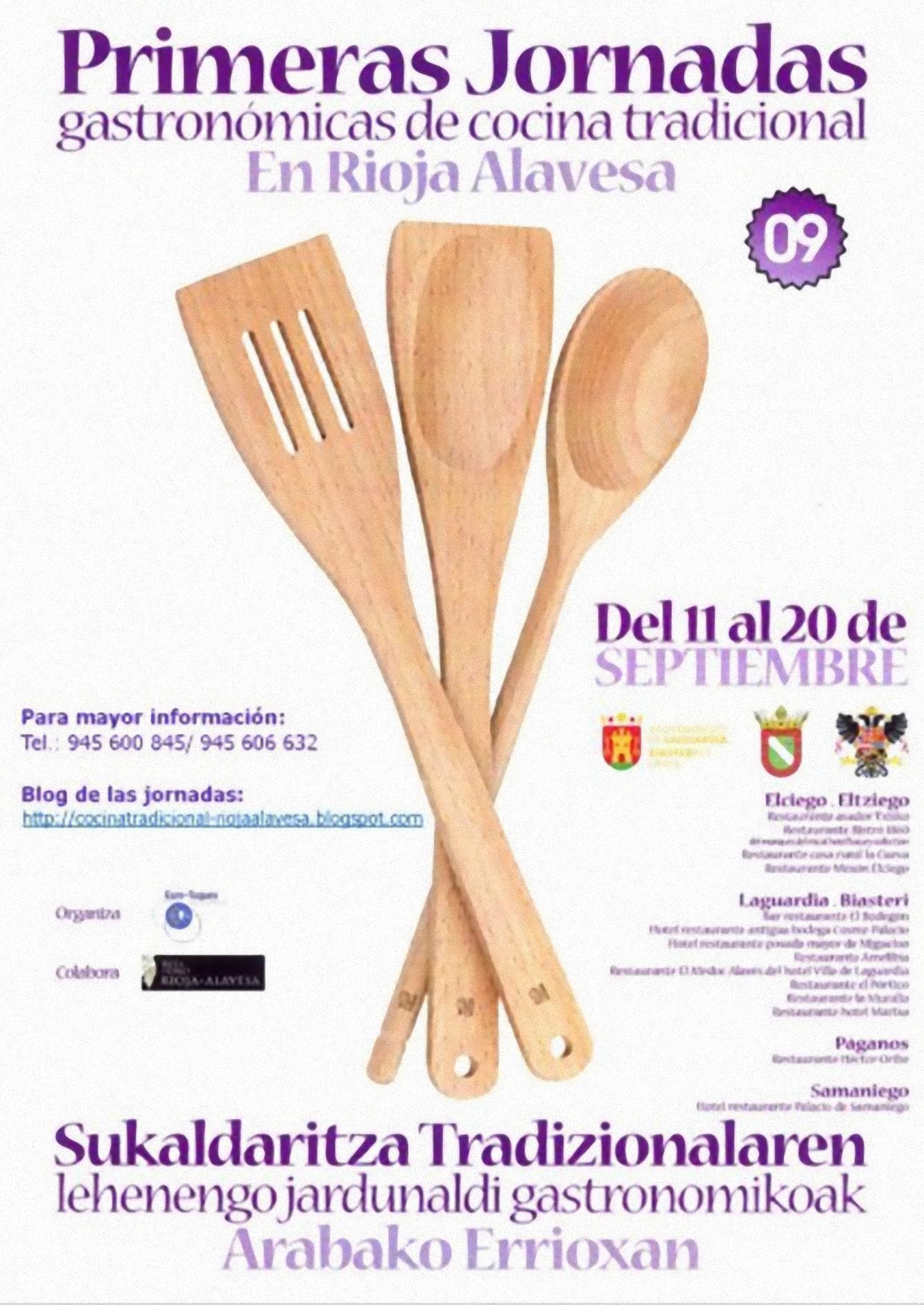 Cartel de las I Jornadas de Cocina Tradicional de la Rioja Alavesa (1)