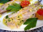 Sardinas marinadas en lima y jengibre
