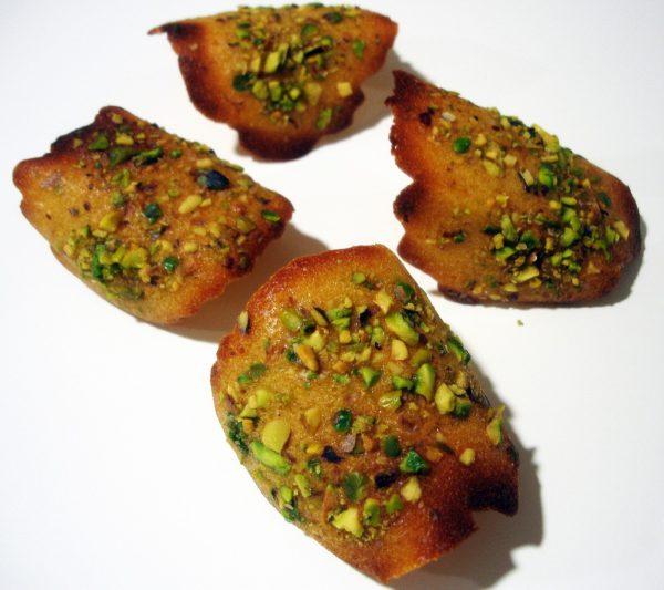 Receta de Tejas de Pistachos, unas pastas deliciosas