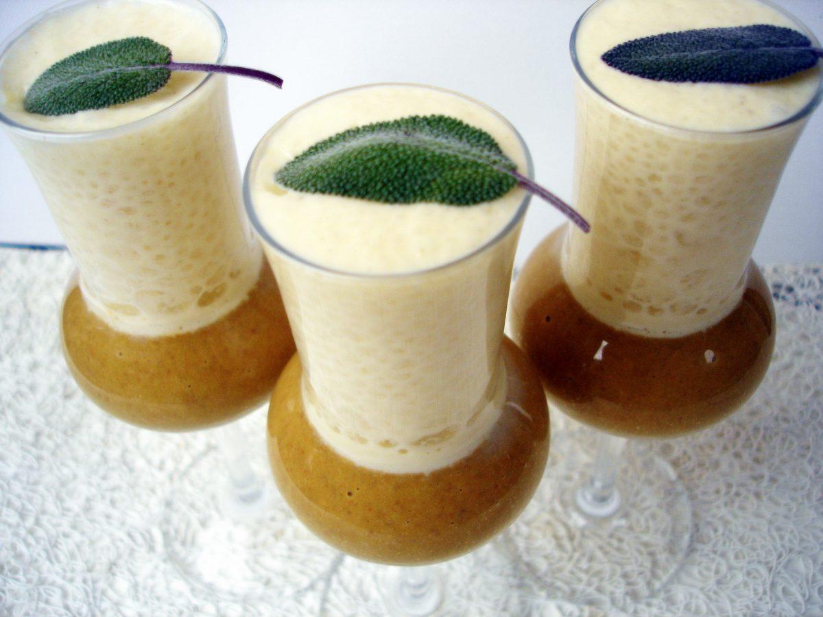 Crema de lentejas con espuma de boletus