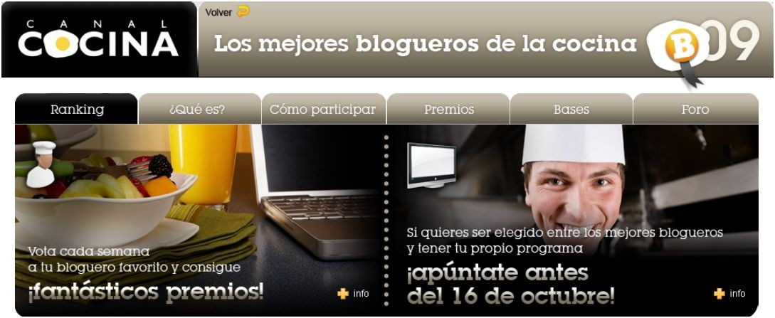 Mejor bloguero de la cocina 2009 el aderezo blog de for Los mejores libros de cocina