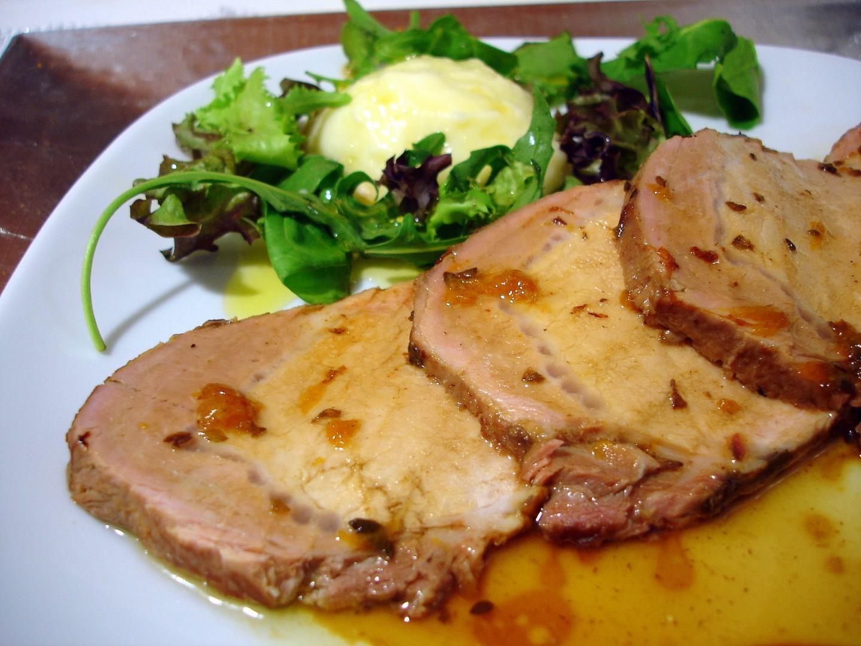 Lomo de cerdo asado agridulce - Como preparar un solomillo de cerdo al horno ...