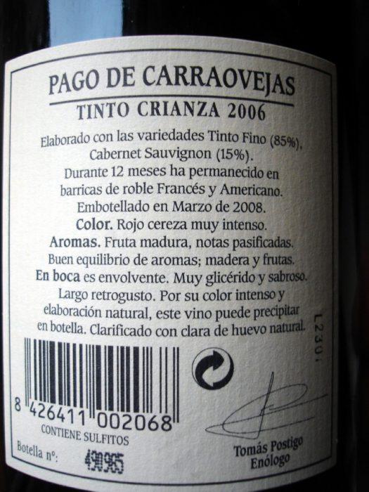 Pago de Carraovejas Crianza 2006