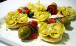 Alcachofas con Kimbos rellenos de foie