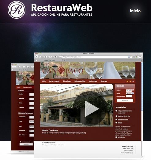 RestauraWeb, reservas on-line para restaurantes
