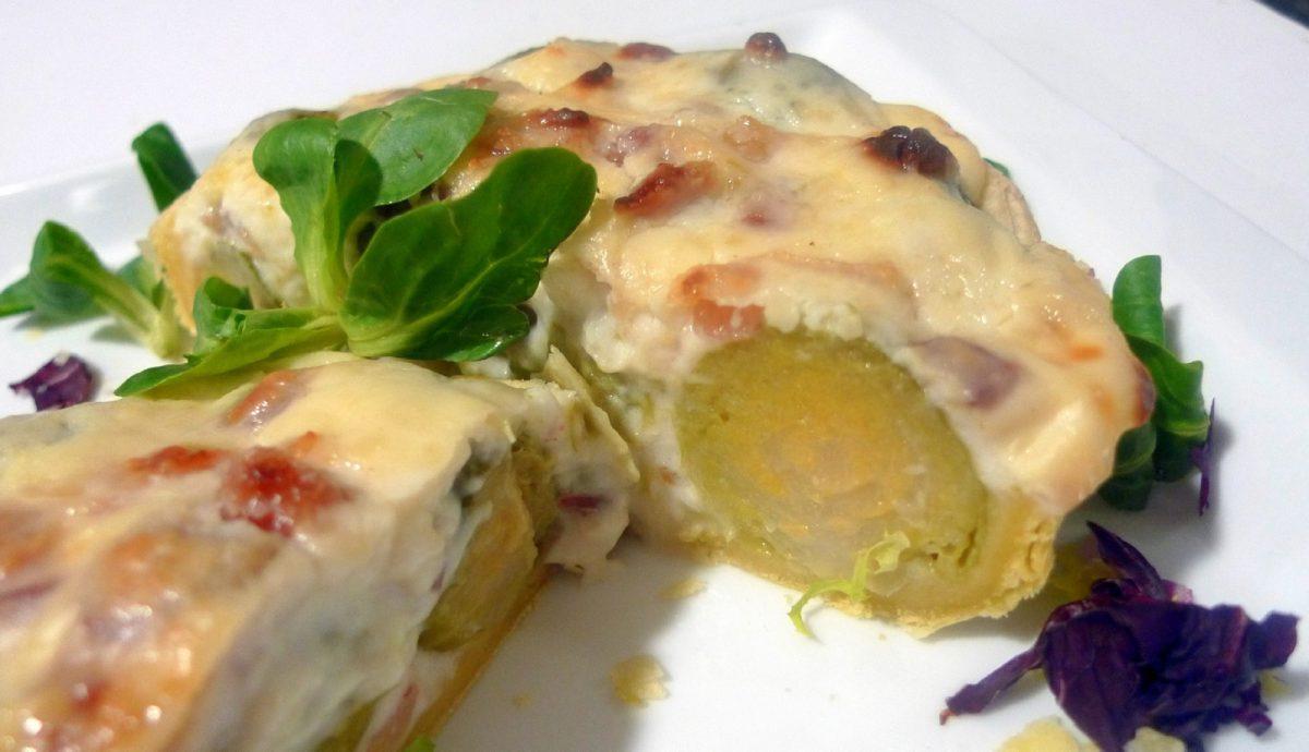 Coles de bruselas en hojaldre con bechamel de jam n blog - Cocer coles de bruselas ...