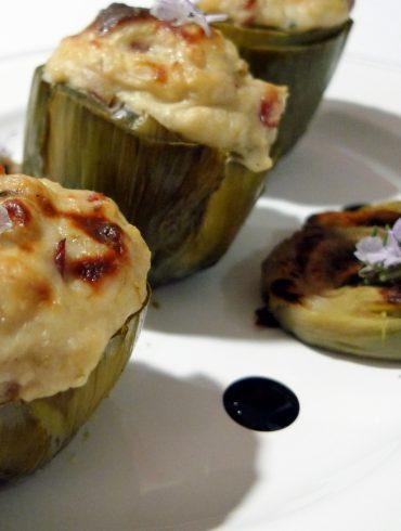 Receta de Alcachofas rellenas de jamón ibérico