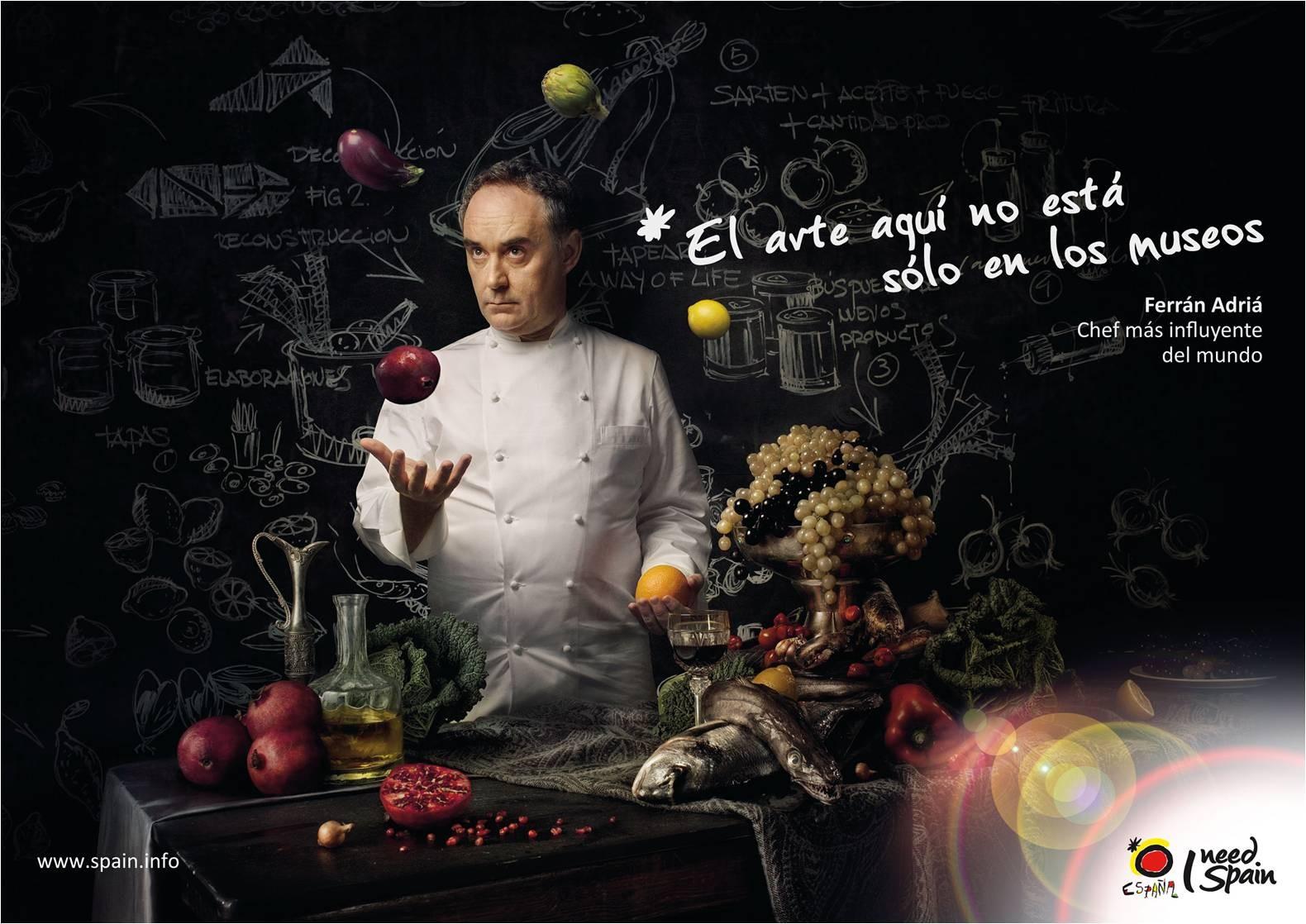 Ferrán Adrià - 'I need Spain' es el nuevo eslogan turístico de la marca España