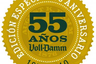 Logotipo del 55º aniversario de Voll-Damm