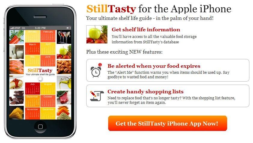 Still Tasty. Seguridad Alimentaria en nuestro iPhone
