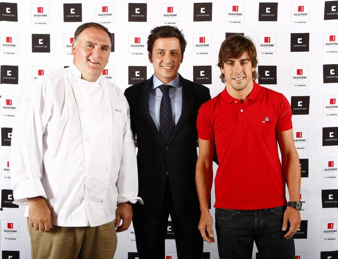 Jose Andrés y Fernando Alonso en Montreal