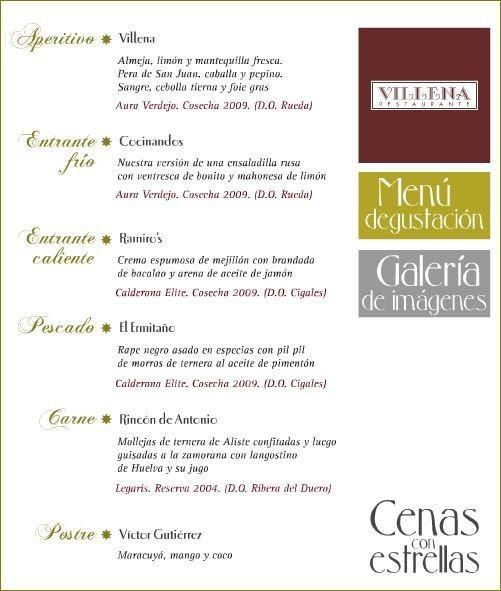 Menú Cenas con Estrellas Michelin en Castilla León