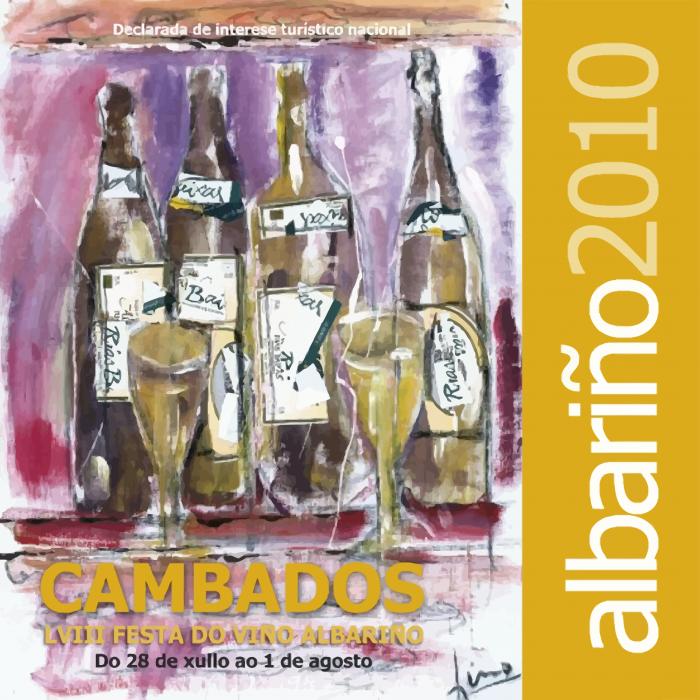 Fiesta del Vino Albariño 2010 cartel