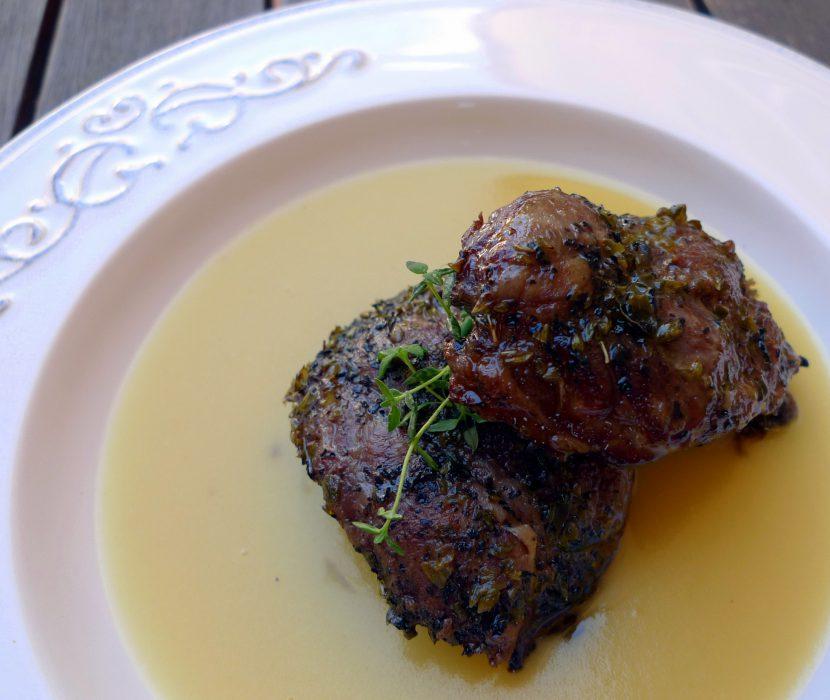 Receta de Carrilleras asadas con puré de patatas