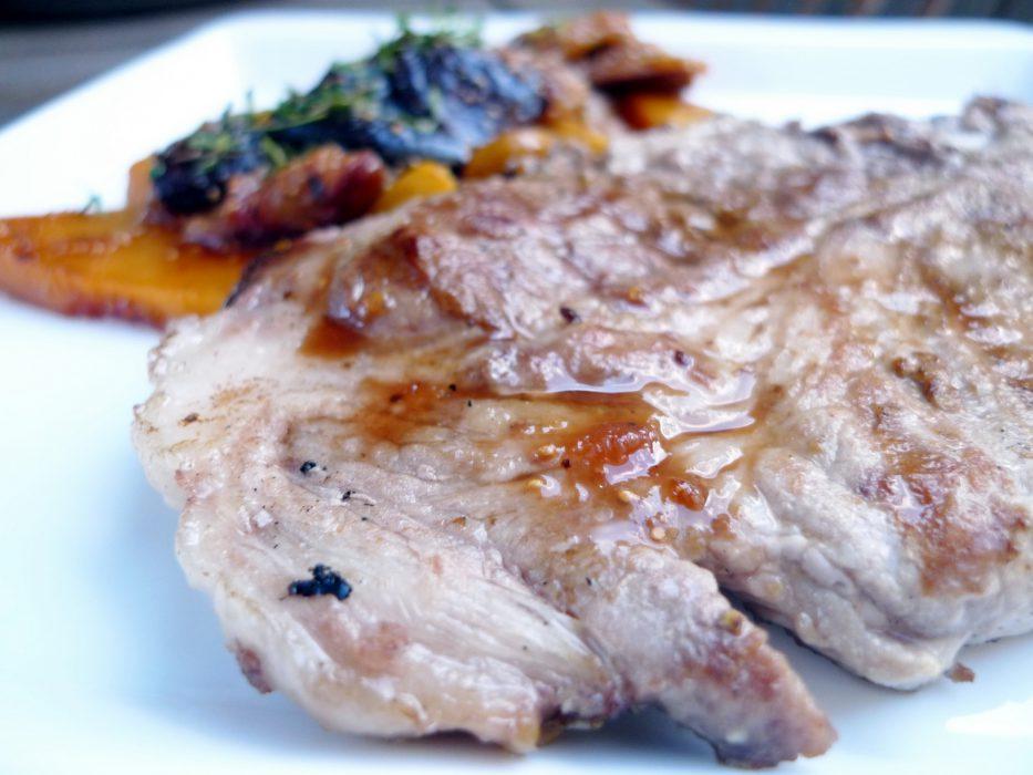 Receta de Lomo de cerdo con melocotones e higos
