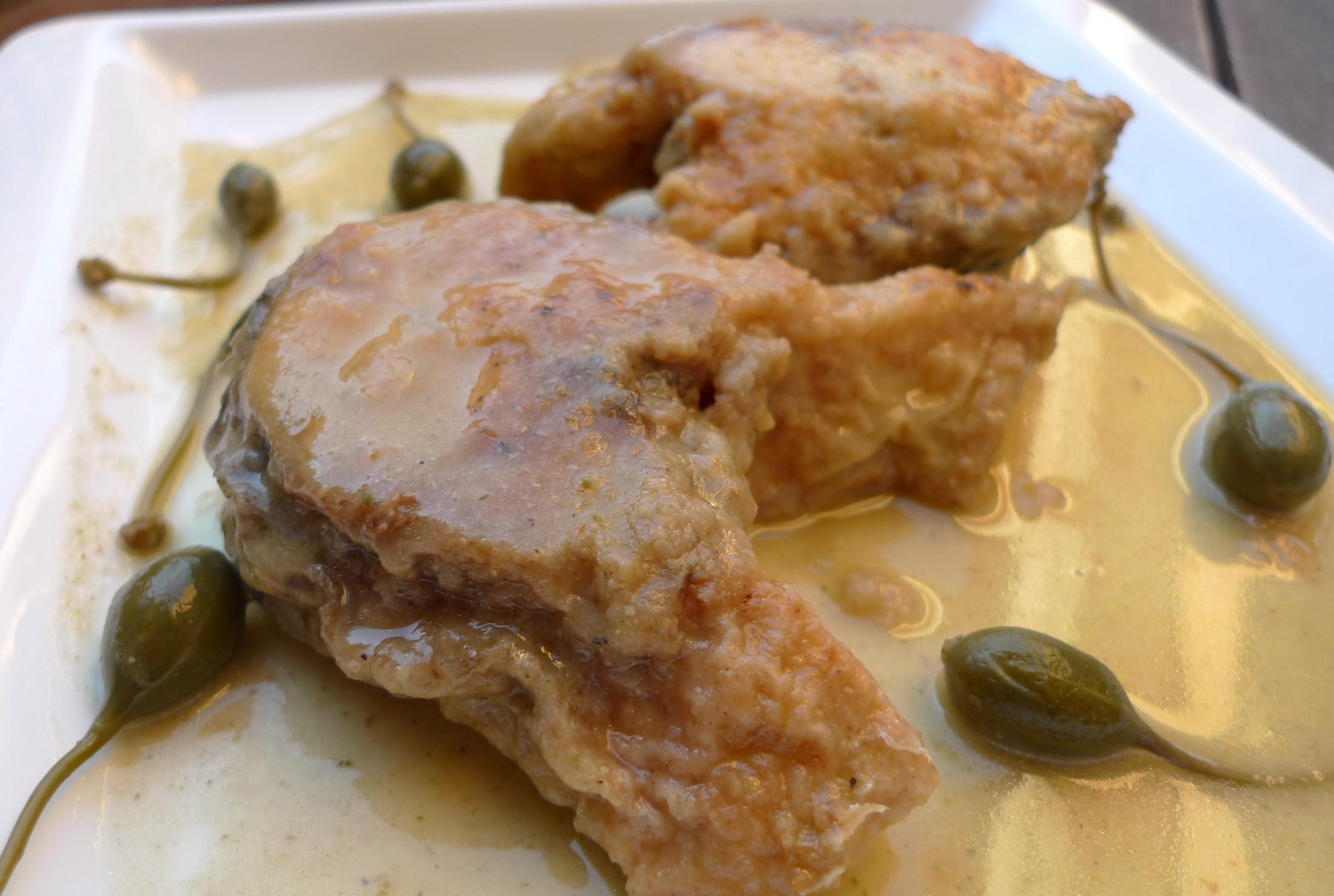 Receta de Lubina en salsa de alcaparrones