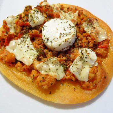 Receta de Piadina con carne y queso de cabra
