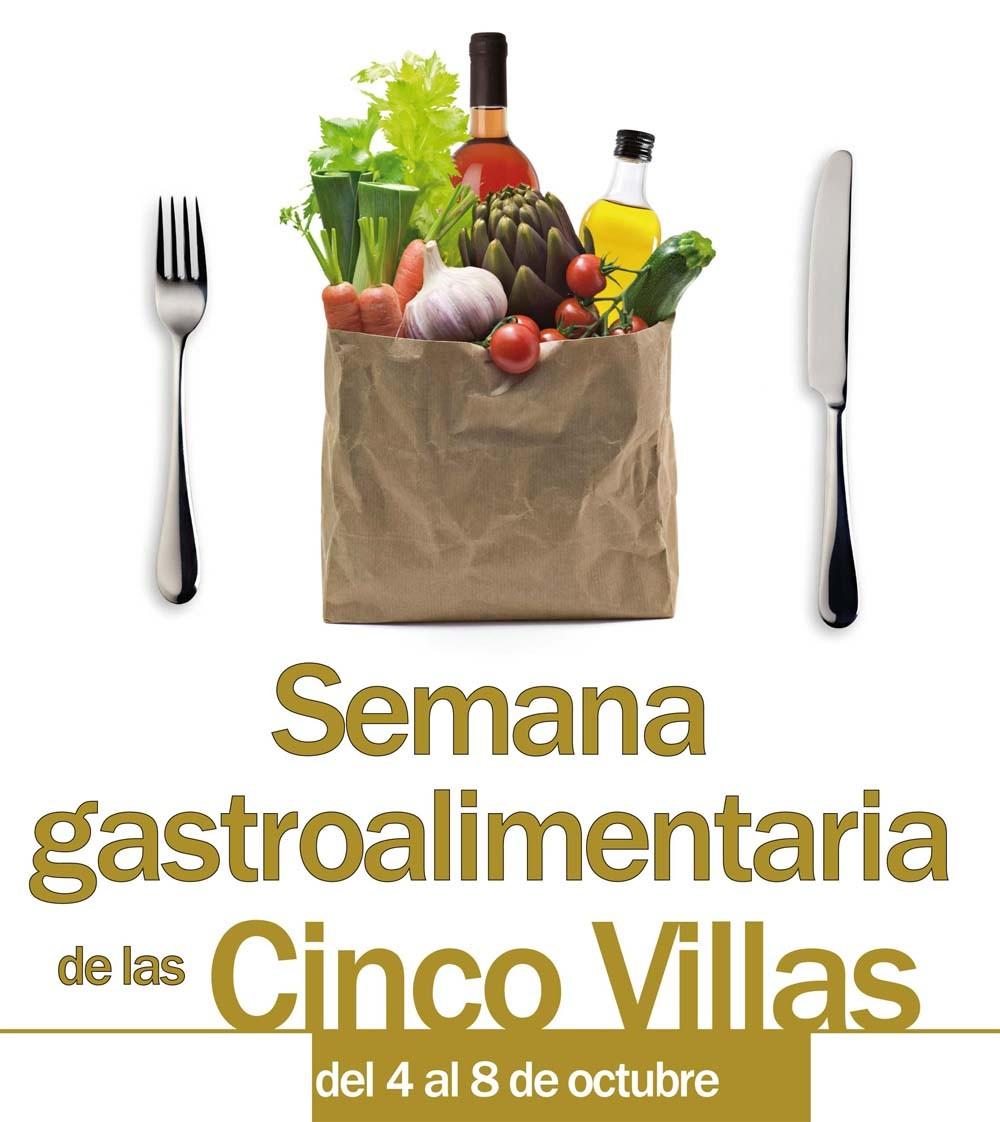 Cartel de la Semana Gastroalimentaria de las Cinco Villas