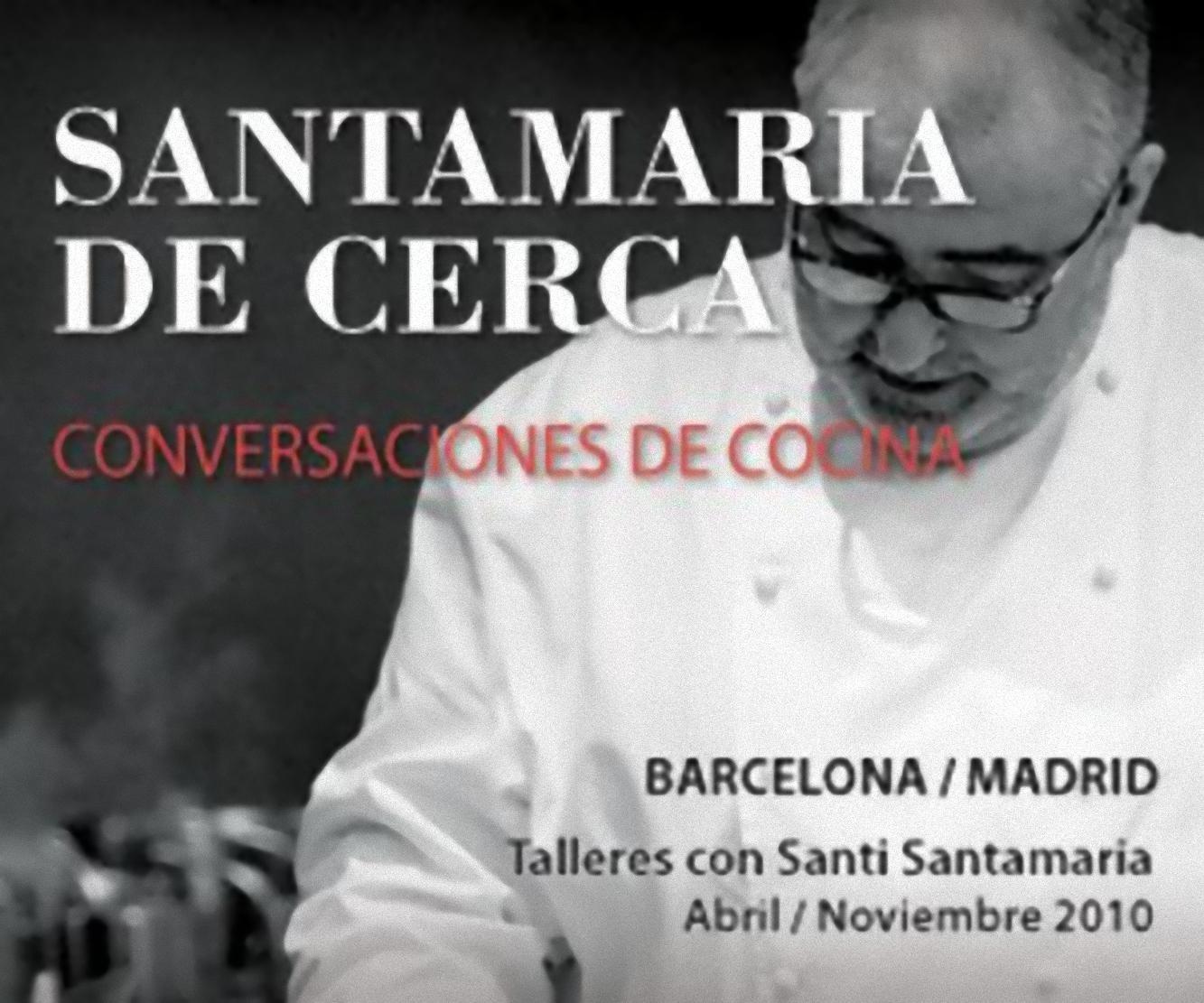 Cartel del Ciclo Santamaría de Cerca – Conversación y Cocina
