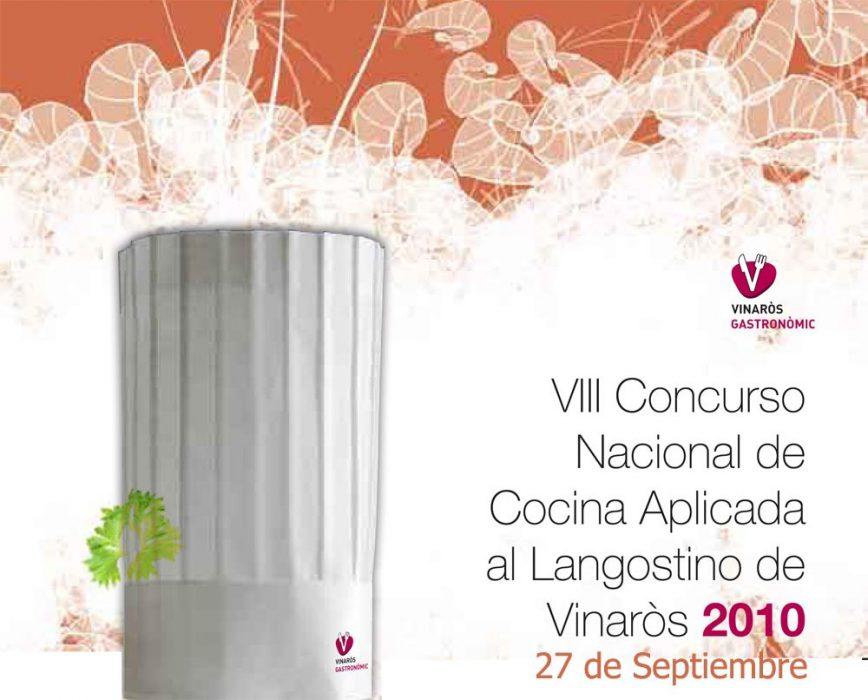 Cartel del VIII Concurso Nacional de Cocina Aplicada al Langostino de Vinaròs