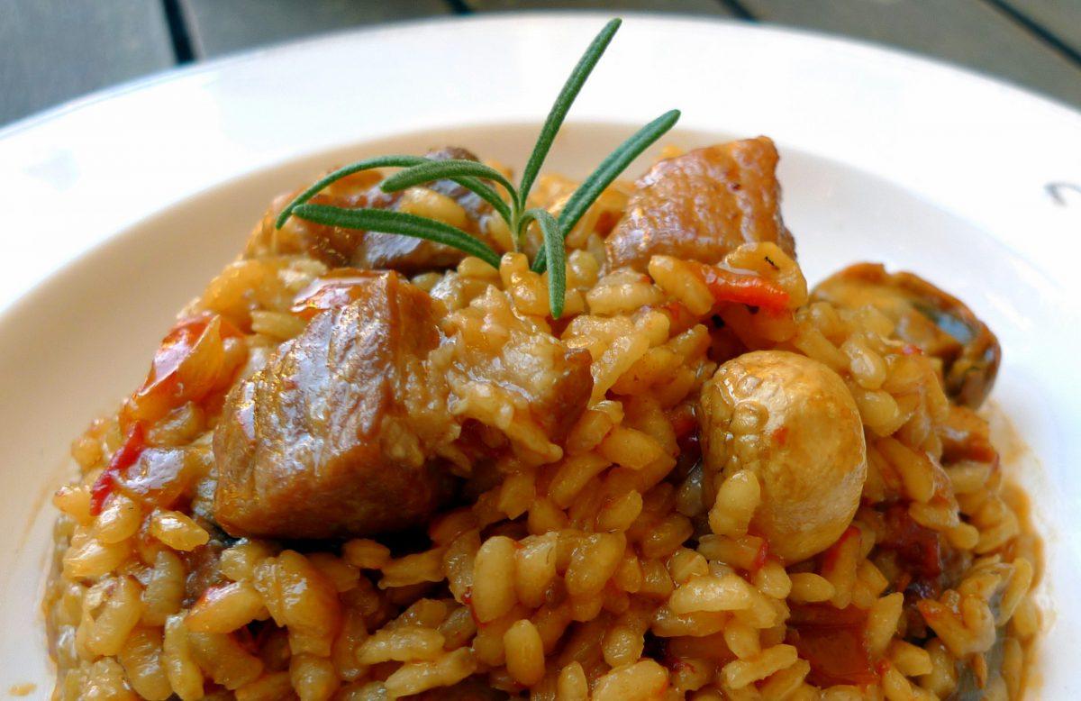 Arroz con pollo de corral y secreto de cerdo ib rico una - Arroz con verduras y costillas ...