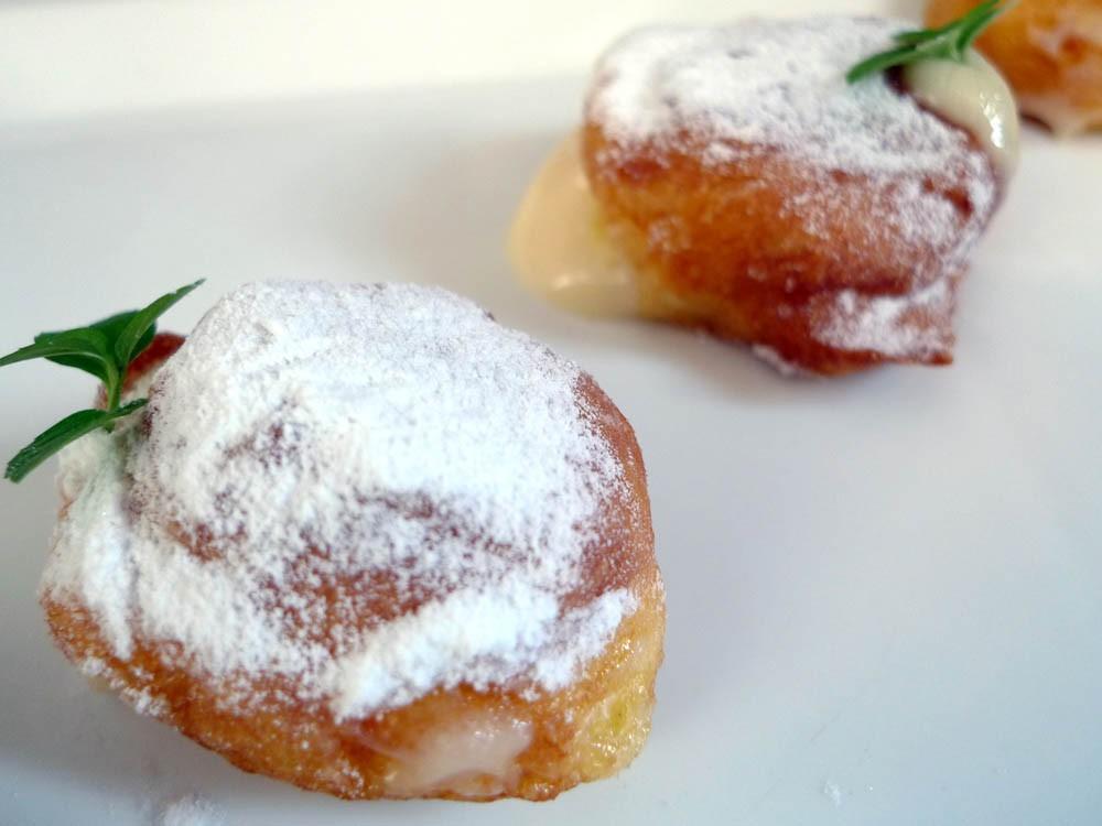 Buñuelos de crema pastelera en Thermomix
