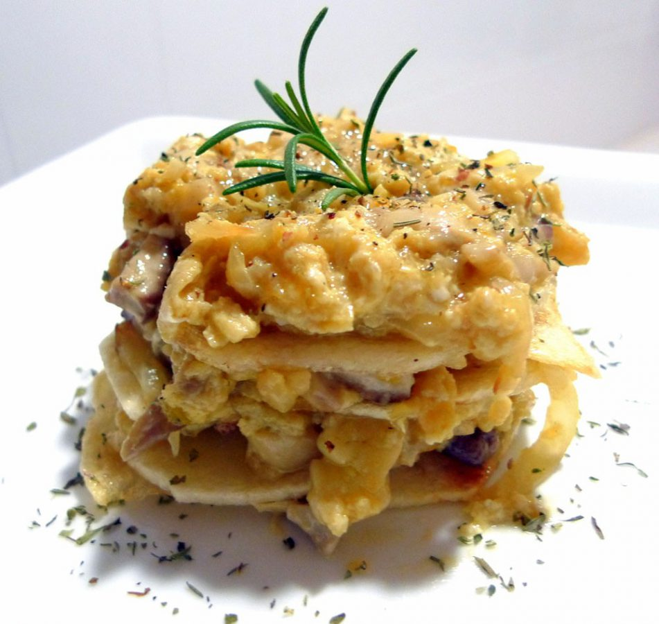 Revuelto de boletus con patatas