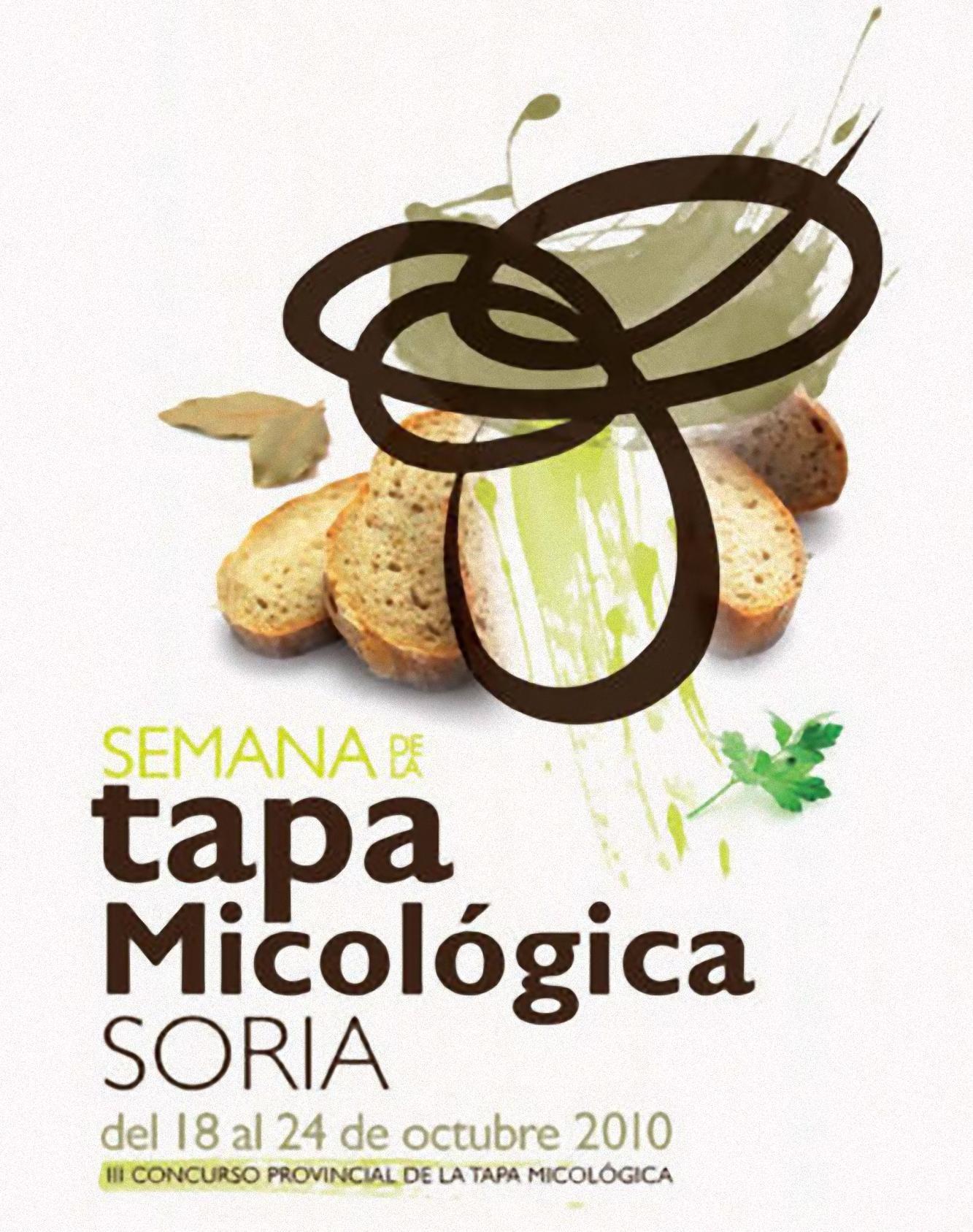 Cartel de la Semana de la tapa micologica soria