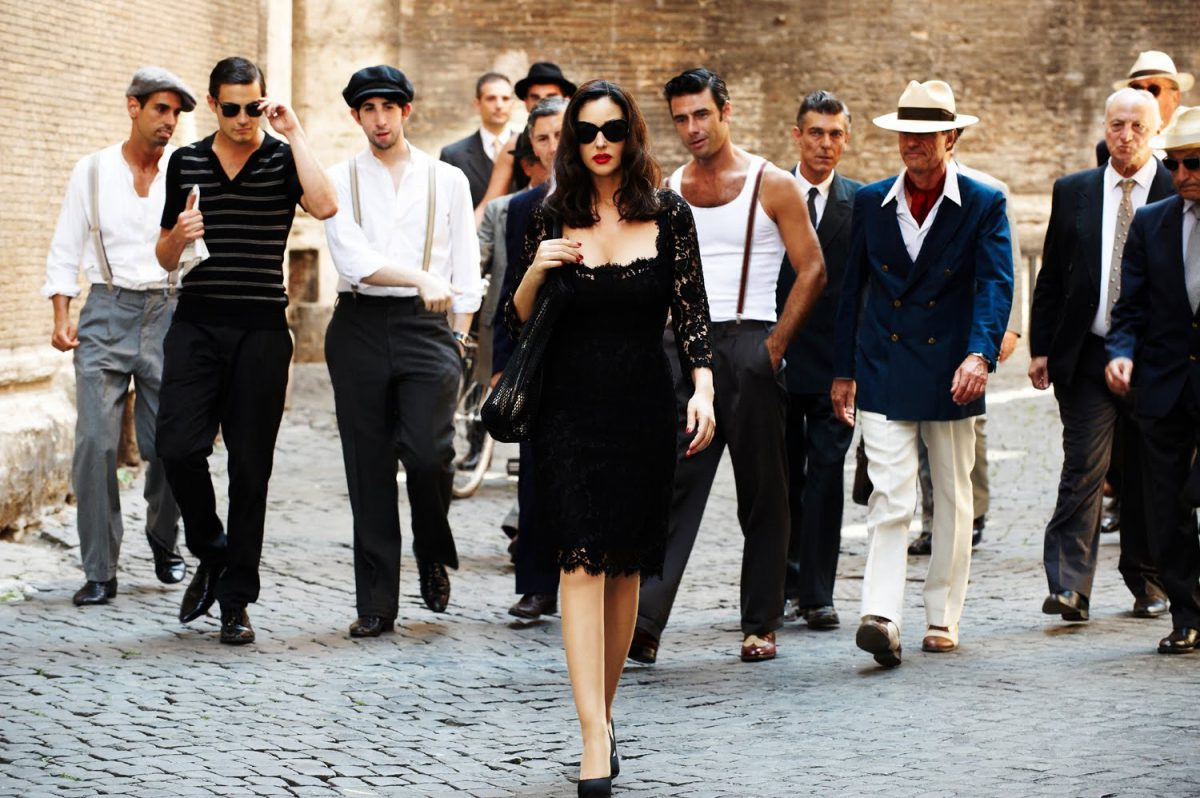 Monica-Bellucci y MARTINI Gold by Dolce&Gabbana