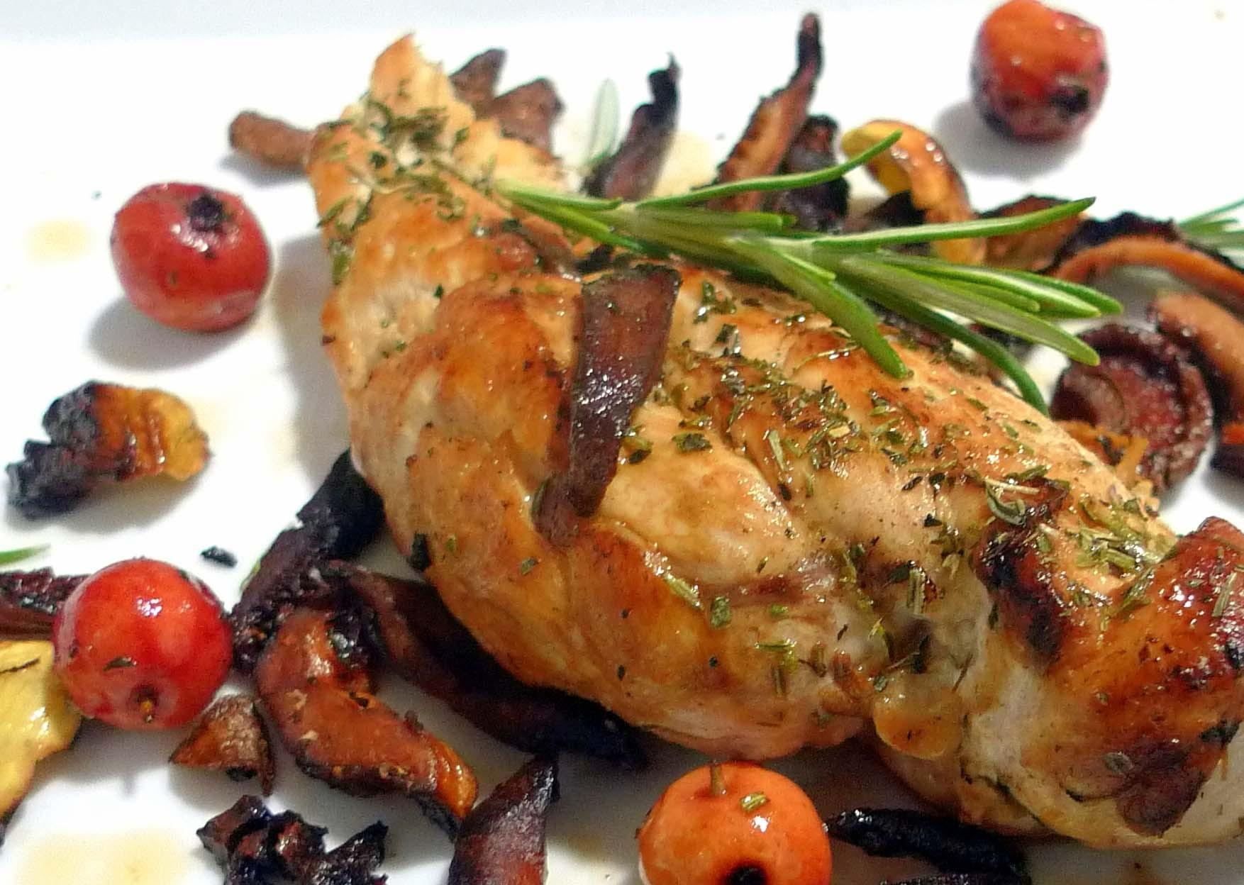 pechuga de pollo con níscalos
