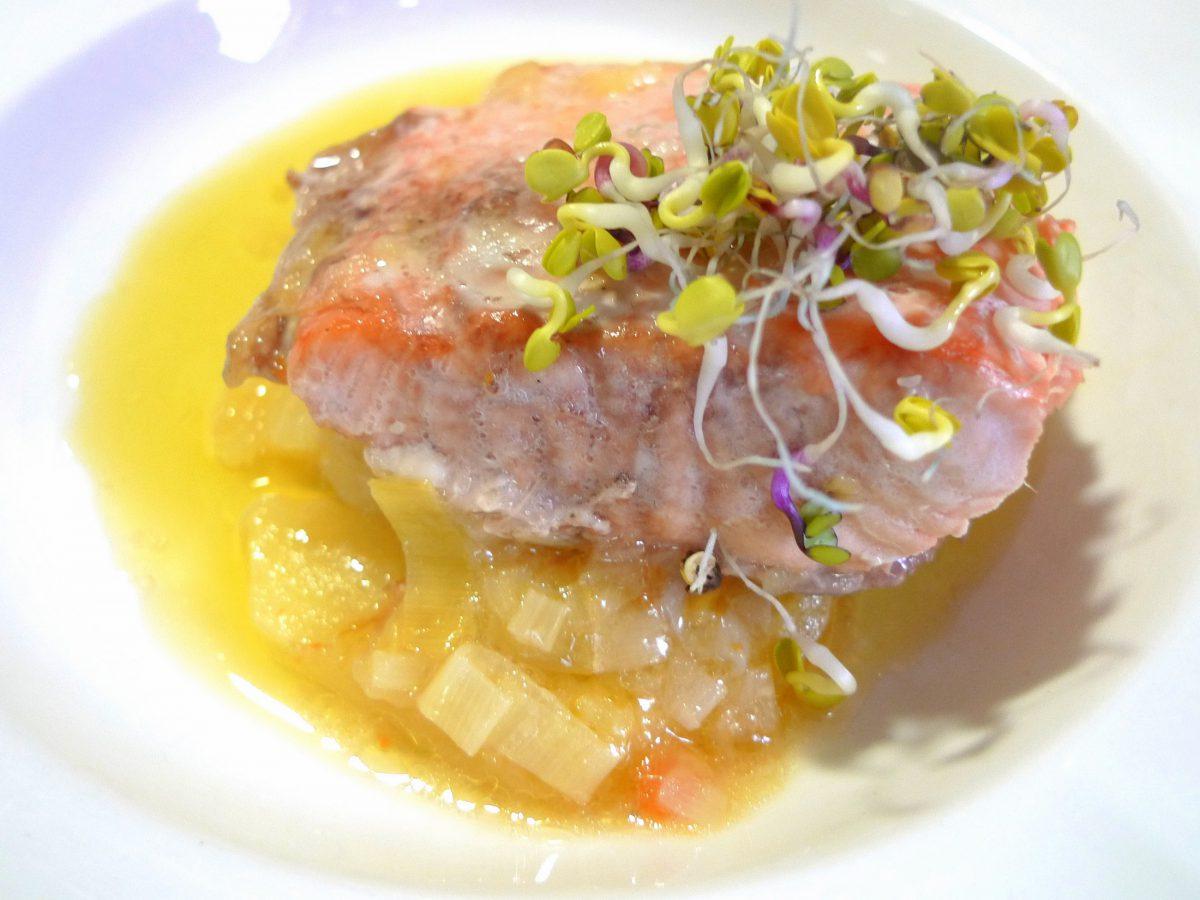 Receta de salmón al horno en su jugo