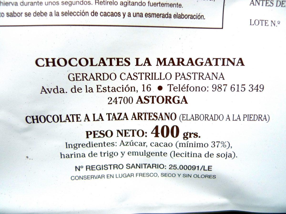 Envase Chocolates la Maragatina - Astorga