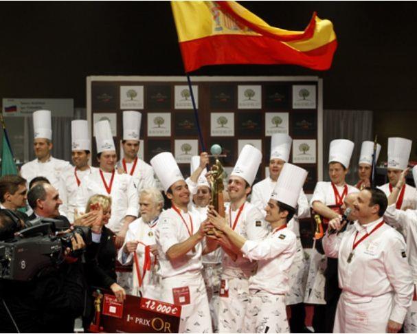 España gana la copa del mundo pasteleria