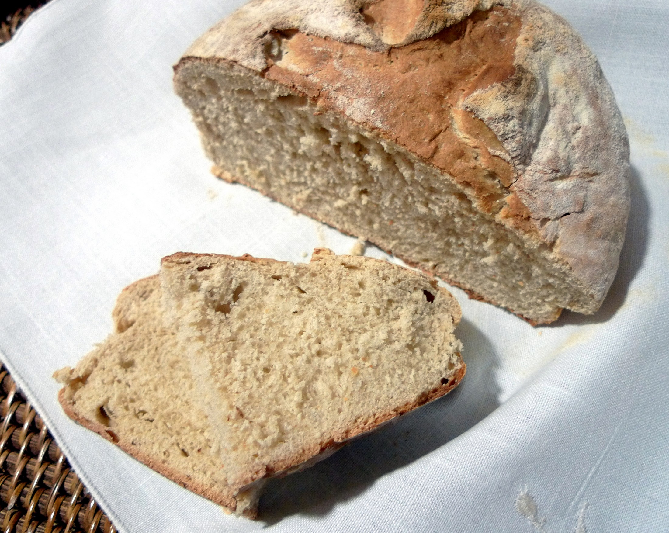 Pan casero con harina Santa Rita