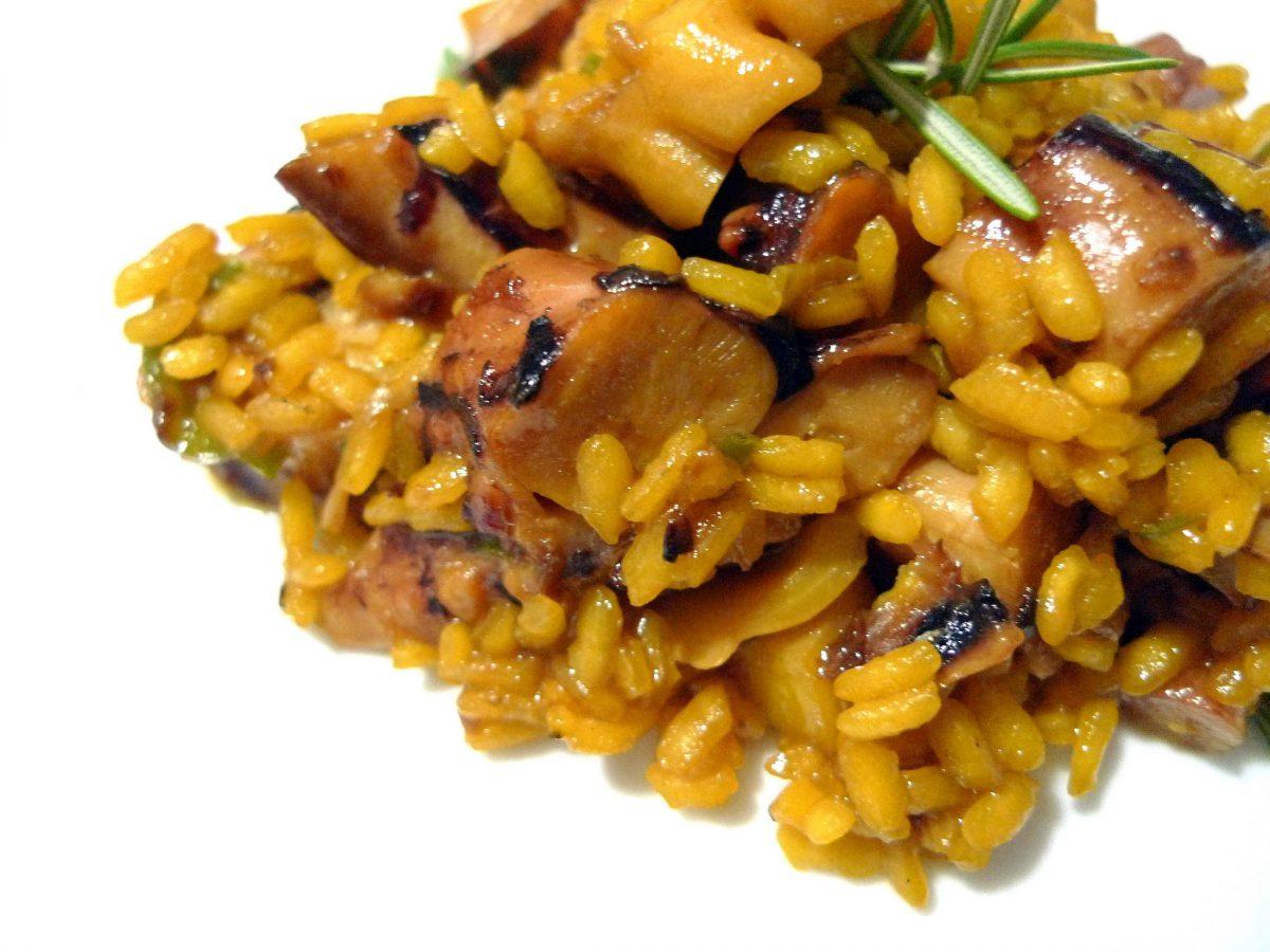 Receta de arroz con sepia y pulpo