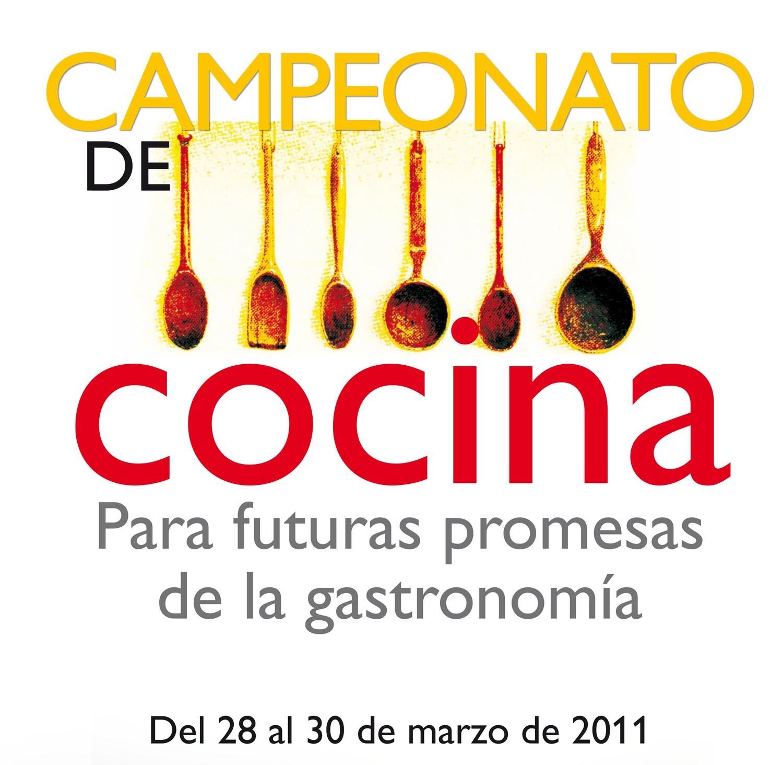 Cartel Futuras Promesas de la Gastronomia