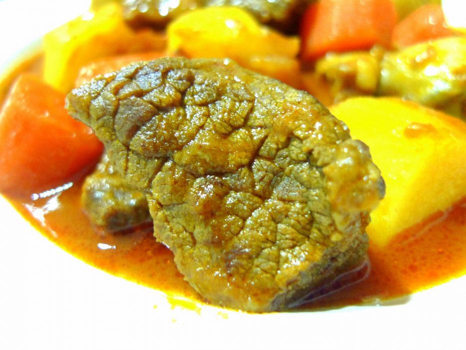 estofado de ternera y verduras