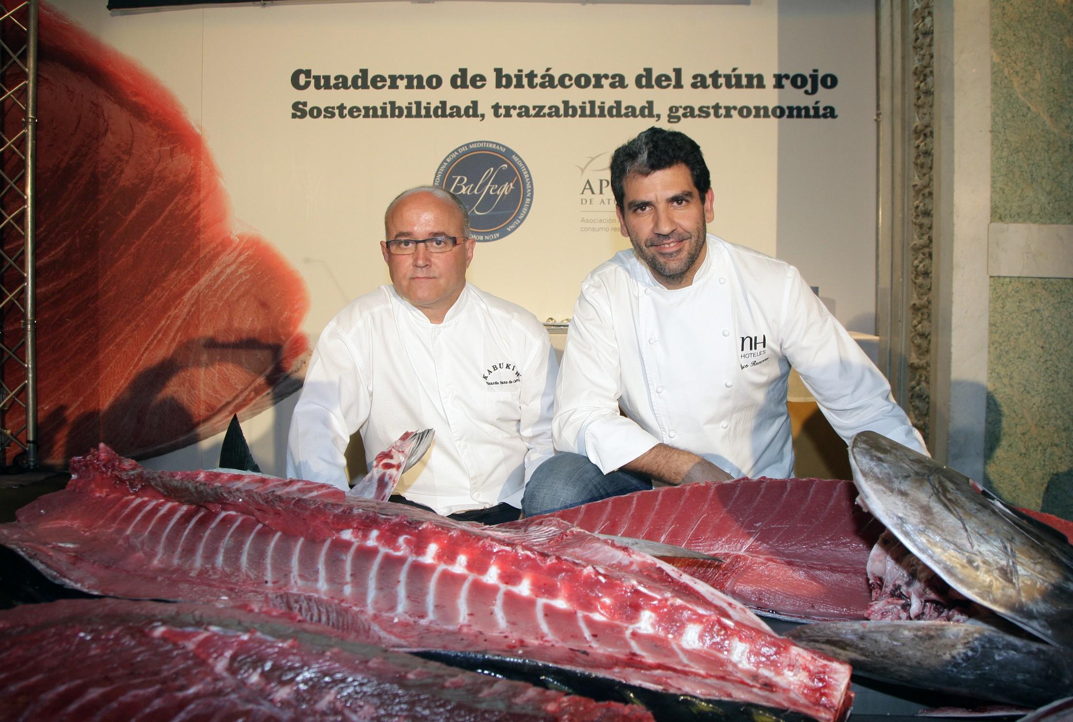 Paco Roncero, de La Terraza del Casino de Madrid, y Ricardo Sanz, del Restaurante Kabuki