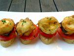 Aperitivo de huevo, queso y jamón en tempura 3