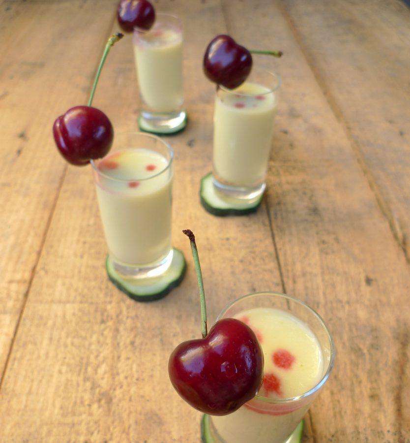Crema de pepino, yogur y melocotón 1